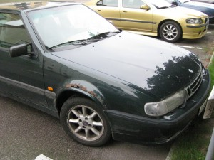 Bil i behov av reparation